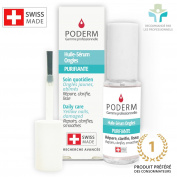 FUNGAL NAILS, YELLOW AND DAMAGED. REPAIRS, BRIGHTENS, SMOOTHS. Easy, fast treatment hands/feet using exceptional Swiss anti-fungal plants and essential oils (geranium, organic lemon and rosemary).