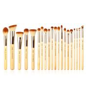 Jessup Brand 20pcs Beauty Bamboo Professional Makeup Brushes Set Make up Brush Tools kit Foundation Powder Brushes Eye Shader T145