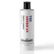 Natural Beard Wash | Proudly Made in the USA | Live Bearded (Alcohol Free Shampoo, Beard Shampoo, Beard Oil Shampoo) Campfire Fragrance - The American Beard Oil Scent