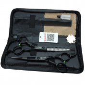 Hair 15cm hair cut black hair cutting tool Japan 440c stainless steel scissors suit