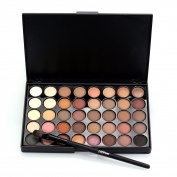 CAN_Deal Cosmetic Matte Eyeshadow Cream Makeup Palette Shimmer Set 40 Colour+ Brush Set