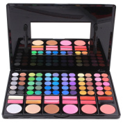 CAN_Deal 78 Colours Eyeshadow Eye Shadow Palette Makeup Cosmetic Set with 12 Lipsticks and 6 Blush