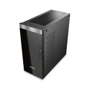 Segotep SG-K8 ATX Full-Tower Case with 3 x Front 12CM Red Ring LED Fan (No PSU) - Black - Tempered
