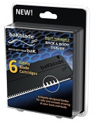 BaKblade 2.0 – Replacement Blades - Set Of 6 Safety Blades - 9 cm wide DryGlide Blades - For Smooth And Safe Shaving Of Your Back And Body