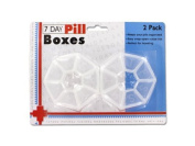 7-Day Pill Box Organisers; Double Pack Set