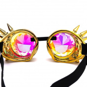 KaiCran Fashion Kaleidoscope Colourful Glasses Rave Festival Party EDM Sunglasses Diffracted Lens