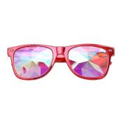 KaiCran Fashion Kaleidoscope Glasses Rave Festival Party EDM Sunglasses Diffracted Lens