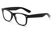 Newbee Fashion - Value Pack, Simple Clear Stylish Horned Rim Reading Glasses with Rx Magnification Comfortable Design
