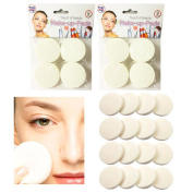 16 Cosmetic Sponge Round Foam Pad Make Up Applicator Foundation Powder Blender