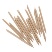 100Pcs Nail Art Wood Stick Cuticle Pusher Remover for Beauty Nail Art Care Manicures Nail Tools