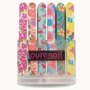Purenail 48 Flower Pattern Nail Files + Stand