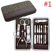 Newest Manicure Pedicure Useful Nail Care Clippers Cleaner Kit 12PCS Beauty Set by Siam panva