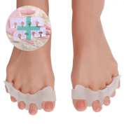 Gel Toe Separators & Toe Correctors for Dancers,Yogis & Athletes,Treatment for Bunions Relief,Hammer Toe,Running for Men and Women Bunion Pain Relief
