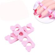Coohole 40Pcs Soft Foam Sponge Toe Separator Finger Separator Nail Art Makeup Tools