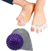Toe Separator - Yoga Massage Ball, for Foot Pain Relief, Fight Bunions & More