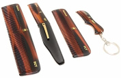 Handmade Grooming Combs - Variety Pack - Dressing, Folding, Pocket, and Keychain Combs
