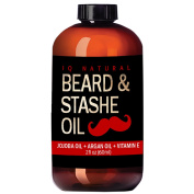 Beard Oil for Men Care - Leave in Beard Conditioner, Heavy Duty Beard Wax, Moustache Butter & Softener - for Styling, Shaping, Grooming & Growth
