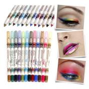 Menow 12 Colour EyeLiner Glitter Lip Pencil Shimmer Pen Makeup Set Eyeshadow