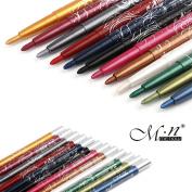 MeNow Long Lasting Eye Lip Liner Pencil Pen Fashion Colours Eyeliner 12PCS
