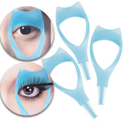 Make Up and Beauty Tools Set Kit of 3pcs Mascara Application Guides Guiding Shields Help Devices Applicators With Eyelashes Eyes Lashes Comb