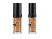 PACK OF 2 L.A. Girl Pro Coverage Liquid Foundation, Nude Beige