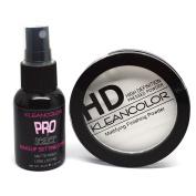 1 HD Pressed Powder + 1 Matte Finish Makeup Spray Kleancolor Set + Free Earring