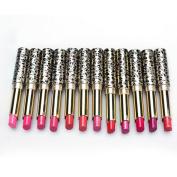Iuhan 12pcs/lot Lipsticks Lip Stain Makeup Lot Leopard Moisturising Lip Stick