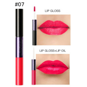 Dingji Women 2 in 1 Velvet Matte 12 Colours Lipstick Lip Gloss Double-End Makeup