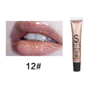 12 Colours Lip Glosses Professional Girls Cosmetics Lipstick Long-lasting for Women by TOPUNDER B