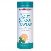 Body and Foot Powder Citrus Mint Nutribiotic 120ml Powder