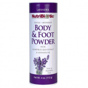 Body and Foot Powder Lavender Nutribiotic 120ml Powder