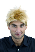 WIG ME UP ® - TC-1012-22T/144+A51 Men Gents Quality Wig short teased up spiky wild & youthful style gold blond mix streaks
