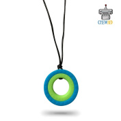 Chew Pendant Double Ring Training and Development Fidget Toy Chew Necklace for Teething Babies,Sensory,Oral Motor, Anxiety, Autism, ADHD