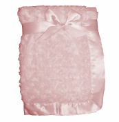 Supersoft Luxurious Swirl Plush Satin Edged Baby Pram/Crib Blanket - Suitable For Baby Girl/Boy