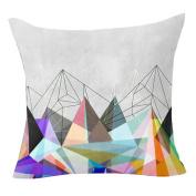 Pu Ran Flower Geometric Pattern Throw Pillow Case Cushion Cover Home Sofa Decor - 1 Colorflash