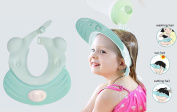 Baby Shampoo Shower Bath Cap Infant Safe with Silicone Ear Protect Soft Sunhat Adjustable Visor for Children Kids Adult