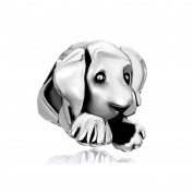 Uniqueen Jewellery Cute Puppy Dog Pet Animal Charms Bead Sale Cheap For Pandora/Troll/Chamilia Charm Bracelet