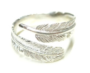 Band Soul Feather Indian Jewellery Sterling Silver Open Ring
