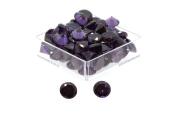 Birth Stone Jewels 5mm Purple Amethyst Round Brilliant Cut Cubic Zirconia Gem Stones Pack Of 2
