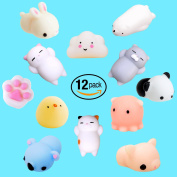 Squishy Cat Mini Squishies Squeeze Toy Soft Stretchy Fidget Kawaii Animal Squishys Squeeze Mochi, Vent Hand Toy, Decompression Educational Stress Relieve Ball