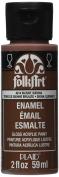 FolkArt Enamel Glass & Ceramic Paint in Assorted Colours (60ml), 4014, Burnt Sienna