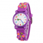 Venhoo Kids Watches Cartoon Waterproof Silicone Children Wristwatches Time Teacher Gifts for Boys Girls