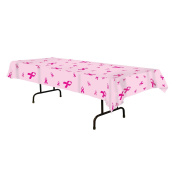 Pink Ribbon Tablecover Party Accessory (1 count) (1/Pkg) 140cm x 270cm