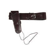 Adult Unisex Quality Brown Cowboy Gun Holster Fancy Dress Accessory