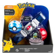 Pokemon T18889D2SQUIRTLE Clip N Carry Poke Ball Belt with Squirtle Figure