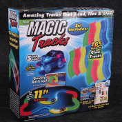 Molog Magic Tracks Car Toy with LED Light Racing Car for Kids with Battery