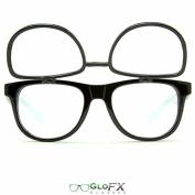 GloFX Matrix Double Diffraction Glasses - Black Intense Rave Party Glasses