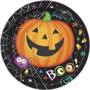 18cm Pumpkin Pals Halloween Party Plates, Pack of 8