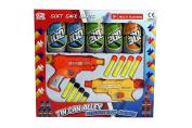 FB FunkyBuys® Kids Twin Gun Tin Can Alley Fun Shooting Target Game Childrens - 8 Soft Safe Foam Dart Play