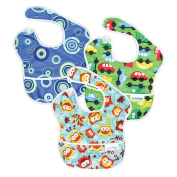 Hippychick Bumkins Superbib, Boy - Pack of 3